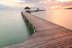 Pfadmethode, Sonnenaufgang zu sehen Lizenzfreies Stockbild