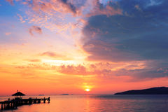 Pfadmethode, Sonnenaufgang zu sehen Stockbilder