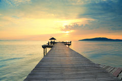 Pfadmethode, Sonnenaufgang zu sehen Lizenzfreies Stockfoto