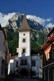 Pfaffenstein & Town Hall in Eisenerz Royalty Free Stock Photo