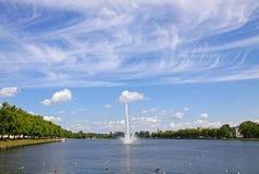 Pfaffenteich lake in Schwerin city, Germany Royalty Free Stock Photos