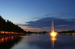 Pfaffenteich lake in Schwerin city, Germany Stock Images