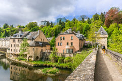 Pfaffenthal, Luxembourg. Beautiful buildings in Pfaffenthal, Luxembourg City Stock Photo