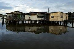 Pfahlhäuser im Kampong Ayer Stockfoto