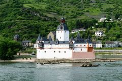 Pfalzgrafenstein castle in Germany in the Rhine royalty free stock photography