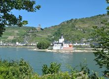 Pfalzgrafenstein Castle,Kaub,Rhine River,Germany stock images