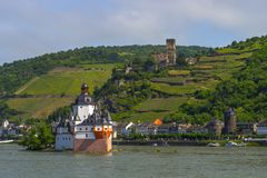 Pfalzgrafenstein Castle. Near Kaub In The Middle Of Rhine River, A UNESCO World Heritage Site Upper Middle Rhine Valley Royalty Free Stock Photos