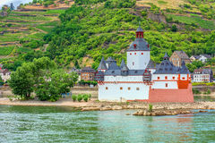 Pfalzgrafenstein Castle. In the Rhine River at Kaub, Germany stock image