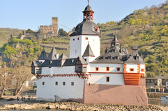 Pfalzgrafenstein Castle in the Rhine River Royalty Free Stock Images