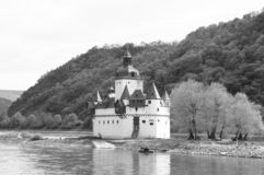 Pfalzgrafenstein Castle is a toll castle on the Falkenau island, otherwise known as Pfalz Island i. Pfalzgrafenstein Castle German: Burg Pfalzgrafenstein is a royalty free stock photo