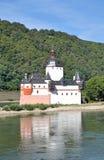 Pfalzgrafenstein, Kasteel, de Vallei van Rijn, Duitsland stock fotografie