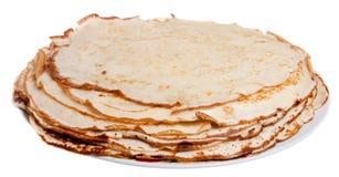 Pfannkuchen auf der Platte Lizenzfreie Stockfotografie