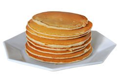 Pfannkuchen auf einer Platte Stockfotografie