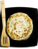Pfannkuchen auf einer Platte Lizenzfreie Stockfotos