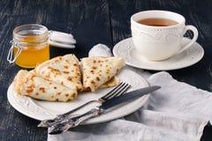 pfannkuchen Dünne Pfannkuchen Russisches bliny Stockbilder