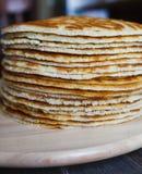 Pfannkuchen eins nach dem anderen natürlich Stockfotos