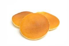 Pfannkuchen getrennt auf weißem Hintergrund Stockfotos