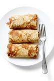 Pfannkuchen mit Fleisch Stockbild