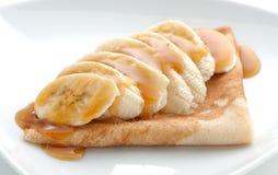 Pfannkuchen mit Honig Lizenzfreie Stockfotos