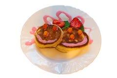 Pfannkuchen mit Minze Lizenzfreies Stockbild
