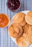 Pfannkuchen mit Stau Lizenzfreies Stockbild