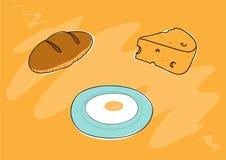 Pfannkuchen mit Stau und Blaubeeren Lizenzfreies Stockfoto