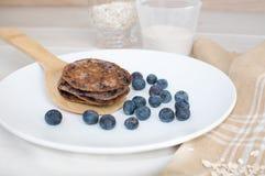 Pfannkuchen mit Vollweizen und Hafern Lizenzfreies Stockfoto