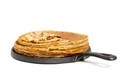 Pfannkuchen oder russische Blintzes Lizenzfreies Stockfoto