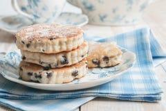 Pfannkuchen- oder Waliser-Kuchen Stockfotos