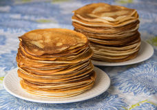 Pfannkuchen, russische Küche Lizenzfreie Stockbilder