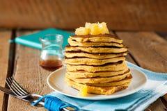 Pfannkuchen-Stapel Stockfoto