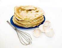 Pfannkuchen und Shell Stockfotografie
