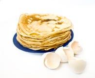 Pfannkuchen und Shell Lizenzfreies Stockfoto