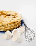Pfannkuchen und Shell Stockbilder