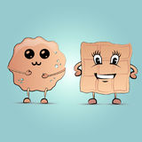 Pfannkuchen und Waffel Lizenzfreie Stockbilder