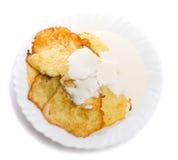 Pfannkuchen vom Mark und vom Köder Stockbild
