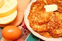 Pfannkuchen von den Eierkürbissen Lizenzfreie Stockfotos