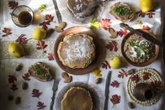 Pfannkuchen zum Frühstück Lizenzfreie Stockfotos