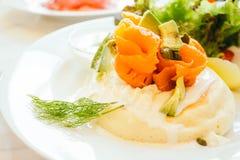 Pfannkuchen zum Frühstück Stockfoto