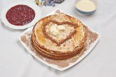 Pfannkuchenfrühstück Lizenzfreie Stockfotografie