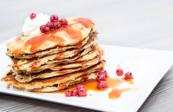 Pfannkuchenfrühstück Stockfotos