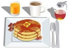 Pfannkuchenfrühstück lizenzfreie abbildung