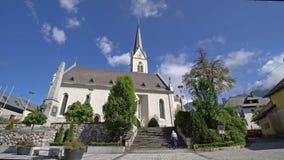 Pfarre-Kirche in Hermagor I stock video