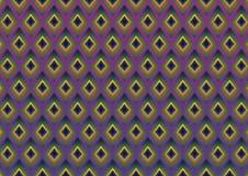 Pfau versieht modernen Musterhintergrund mit Federn Lizenzfreie Stockbilder
