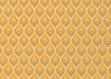 Pfau versieht modernen Musterhintergrund mit Federn Lizenzfreies Stockbild