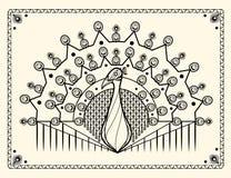 Pfauzusammenfassungsdesign Stockbilder