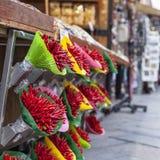 Pfeffer-Blumenstrauß in Venedig Stockbild
