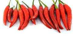 Pfeffer der roten Paprikas getrennt Stockfotografie