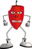Pfeffer des roten Paprikas über Weiß Stockbilder