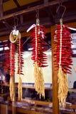 Pfeffer-Ohrdekoration des roten Paprikas stockfoto